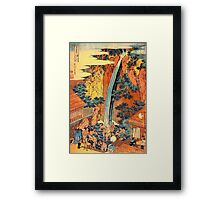 'Waterfalls In All Provinces 2' by Katsushika Hokusai (Reproduction) Framed Print