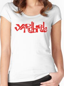 Yardbirds Eric Clapton Jimmy Page Jeff Beck Funny Geek Nerd Women's Fitted Scoop T-Shirt