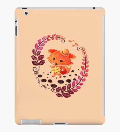 Hello, Miss Fox! iPad Case/Skin