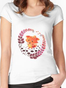 Hello, Miss Fox! Women's Fitted Scoop T-Shirt