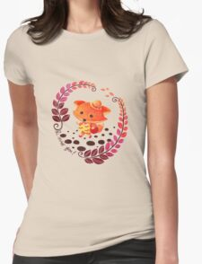 Hello, Miss Fox! Womens Fitted T-Shirt