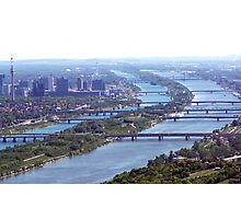 Over the beautiful  and  azure Danube Photographic Print
