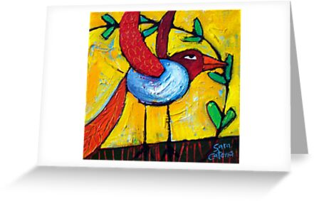 FLIGHT OF THE LOVEBIRD by ART PRINTS ONLINE         by artist SARA  CATENA