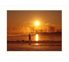 Sunrising II (lakeshore) Art Print