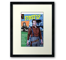 Firefly Vintage Comics Cover Framed Print