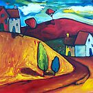 MORNING SUN ON THE HILL by ART PRINTS ONLINE         by artist SARA  CATENA