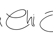 Alpha Chi Omega Girly Script by juststickit