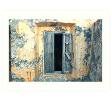 Window, Fort Moro, Old San Juan, Puerto Rico Art Print