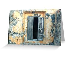 Window, Fort Moro, Old San Juan, Puerto Rico Greeting Card