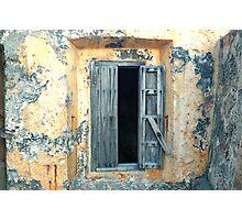 Window, Fort Moro, Old San Juan, Puerto Rico Photographic Print
