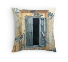 Window, Fort Moro, Old San Juan, Puerto Rico Throw Pillow