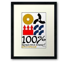 100 renewable energy greenpeace Funny geek Nerd Framed Print