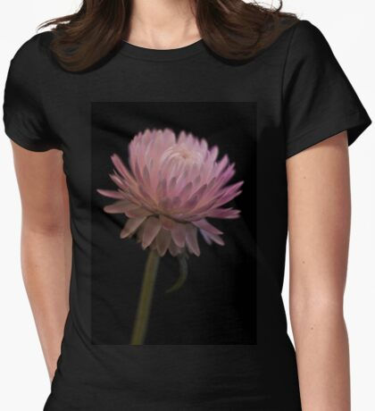 Straw Flower Womens Fitted T-Shirt