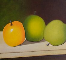 Three Apples by QiQiGallery