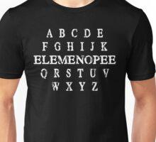 a b c d e f g h i j k elemenopee q r s t u v w x y z Funny Geek Nerd Unisex T-Shirt