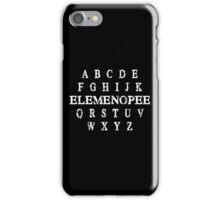 a b c d e f g h i j k elemenopee q r s t u v w x y z Funny Geek Nerd iPhone Case/Skin