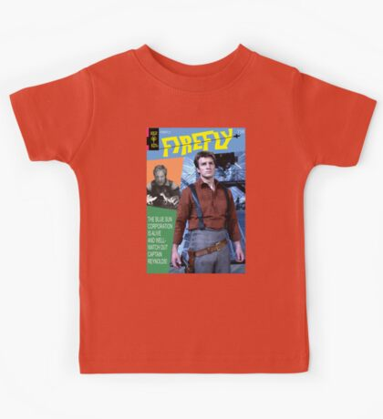 Firefly Vintage Comics Cover Kids Tee