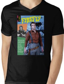 Firefly Vintage Comics Cover Mens V-Neck T-Shirt