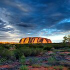 Reworking of Uluru Sunset HDR by Steven Pearce
