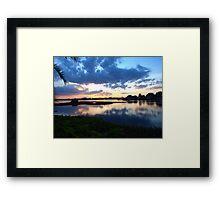 As the sun slips away Framed Print