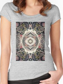 Fractal Typography Women's Fitted Scoop T-Shirt