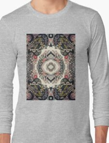 Fractal Typography Long Sleeve T-Shirt
