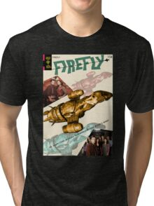 Firefly Vintage Comics Cover (Serenity) Tri-blend T-Shirt