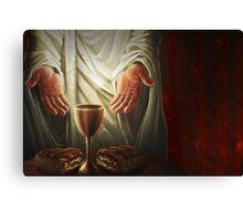 Jesus Breaking Bread Canvas Print