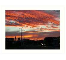 Sunset Delight Art Print