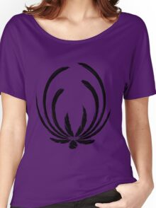 Exotic Elegance in Black Women's Relaxed Fit T-Shirt