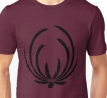 Exotic Elegance in Black Unisex T-Shirt