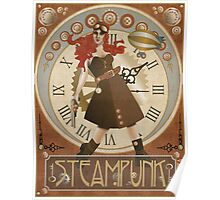 Lady Steampunk in art nouveau style Poster