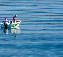 Fishing on the Gold Coast Broadwater by Ann Pinnock