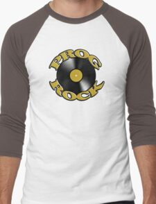 Prog Rock Record Men's Baseball ¾ T-Shirt