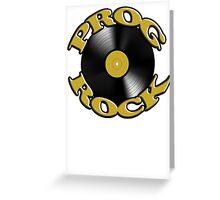 Prog Rock Record Greeting Card