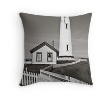 Lighthouse near Santa Cruz Throw Pillow