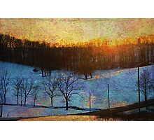 Sunset Valley Photographic Print