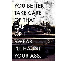 Take Care of that car. Photographic Print