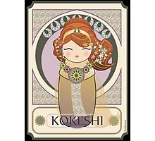 Kokeshi Art nouveau Photographic Print