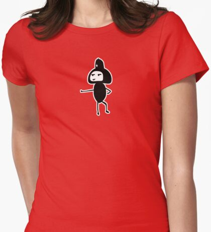 Stop in the name of the lawl. Womens Fitted T-Shirt