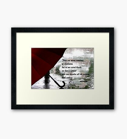 The friend Framed Print