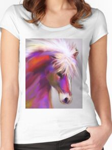 Horse of color Women's Fitted Scoop T-Shirt