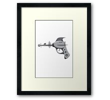 "The Retro ""Death Ray Gun"" Framed Print"