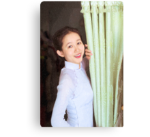Vietnamese girl Canvas Print