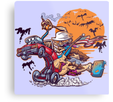 Fink and Loathing Metal Print