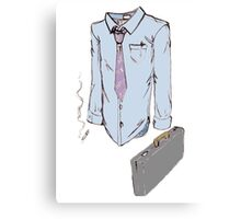 Suit and Tie Canvas Print