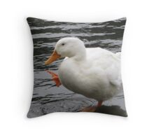 Look ma, I can stand on one foot! Throw Pillow