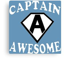 Captain awesome Funny Geek Nerd Canvas Print