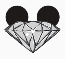 Diamond Disney Ears BW by Infernoman