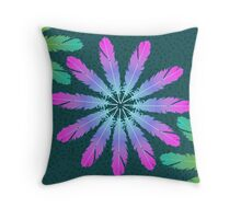 Feathering Flowers Throw Pillow